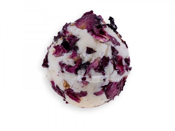 Badekugel mit Schafmilch Rose
