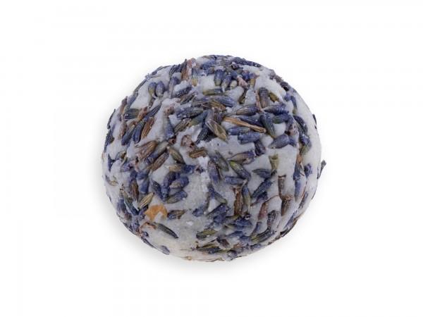 Badekugel mit Schafmilch Lavendel