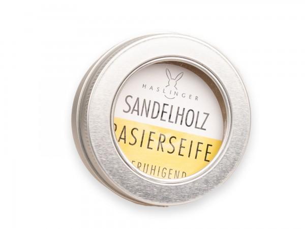 Haslinger Rasierseife Sandelholz 60 g Aludose
